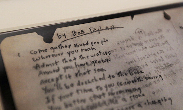 Sotheby's To Auction Dylan Rare Lyrics
